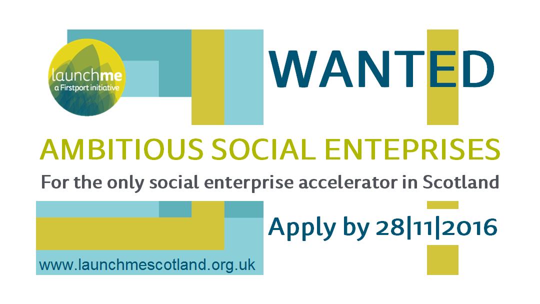 Ambitious social enterprises wanted